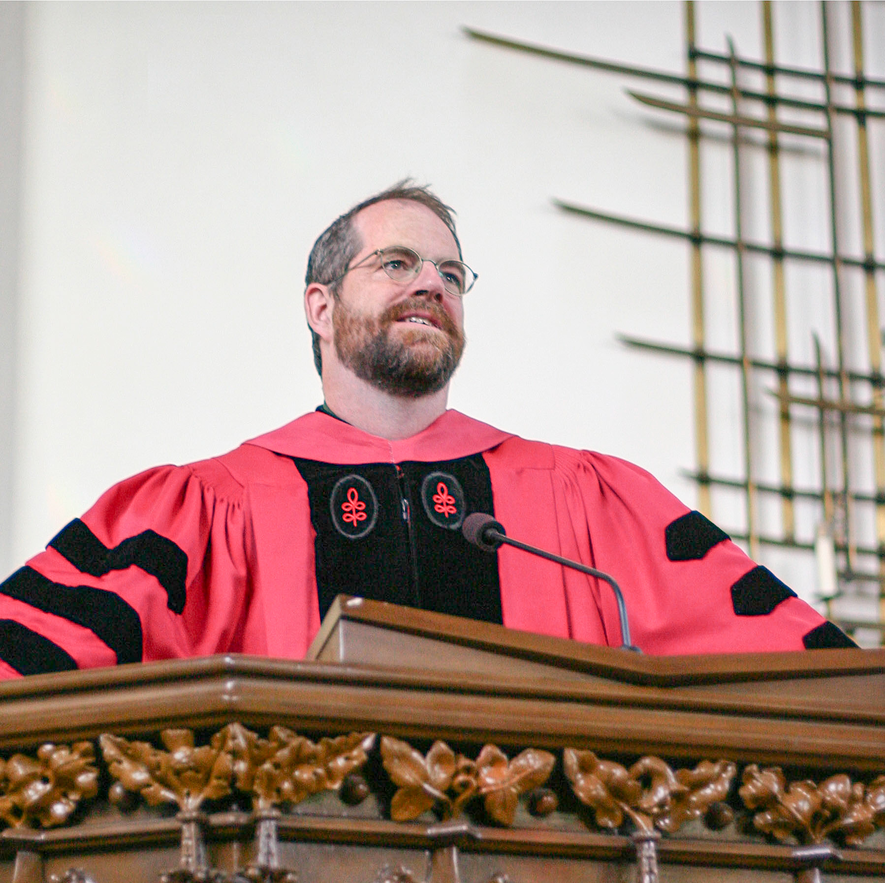 John Marsh in the pulpit in San Francisco